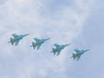 Four Su-34 in flight Stock Photos