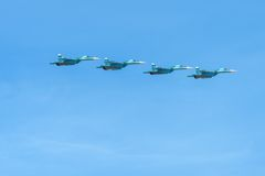 Four Su-34 Royalty Free Stock Photography