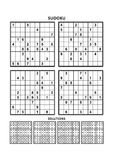 Four sudoku games with answers Royalty Free Stock Photography