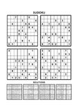 Four sudoku games with answers. Set 11. Royalty Free Stock Photo