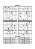 Four sudoku games with answers. Set 12. Royalty Free Stock Photography