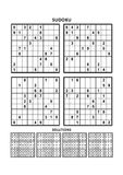 Four sudoku games with answers. Set 6. Stock Photography