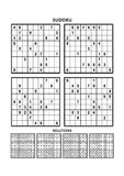Four sudoku games with answers. Set 5. Stock Images