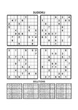 Four sudoku games with answers. Set 8. Stock Photography