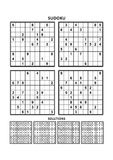 Four sudoku games with answers. Set 7. Stock Images