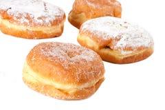 Four Sugar topped Paczki Royalty Free Stock Images