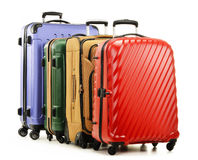 Four suitcases on white background Royalty Free Stock Images