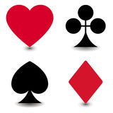 The four suits. For playing cards Stock Images