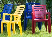 Four summer chairs Royalty Free Stock Photography
