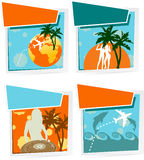 Four Summer  Icons Royalty Free Stock Images