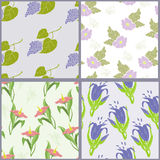 Four summer pattern Stock Photo
