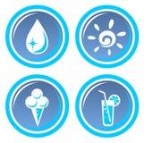 Four summer symbols Royalty Free Stock Photo