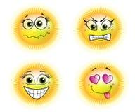 Four suns Stock Image