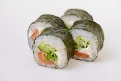 Japanese white sushi set for four