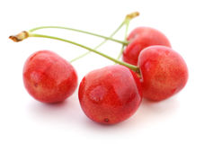 Four Sweet Cherries. Royalty Free Stock Photo