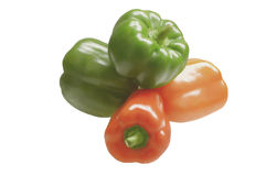 Four sweet peppers Stock Photos