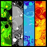 Four swirly banners Stock Photography
