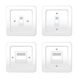 Four switches for light vector illustration Stock Photo