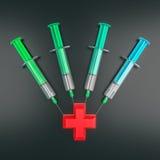 Four syringes Stock Photo