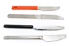Four table knifes Royalty Free Stock Images