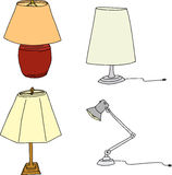 Four Table Lamps Royalty Free Stock Images