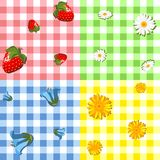 Four tablecloth pattern Stock Image