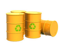 Four tanks of yellow color Royalty Free Stock Image