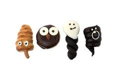 Four tasty halloween bakery Stock Photos