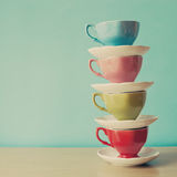 Four Tea Cups Royalty Free Stock Photography