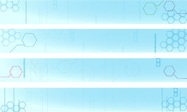 Four Techno Style Banner Royalty Free Stock Photography