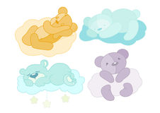 Four teddy bear set. Vector illustration of a four teddy bear set Stock Photography