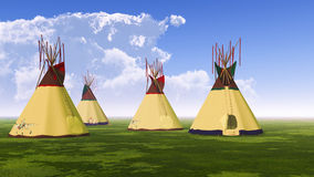 Four Teepees Royalty Free Stock Photo