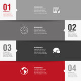 Four template options of modern design. Modern business background for your design Stock Photos