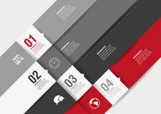 Four template options of modern design. Four options of infographics for your design stock illustration