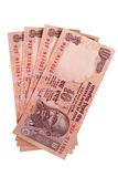 Four ten rupee notes Royalty Free Stock Photography