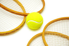 Four tennis rackets Royalty Free Stock Photos