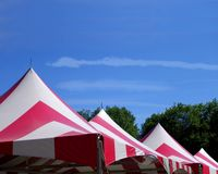 Four tent top peaks Stock Photography