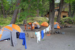 Tents in Nature Stock Image