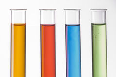 Four test tubes Stock Photography