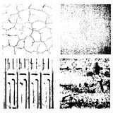 four texture Stamp eps 10 Grunge and crack Stock Images