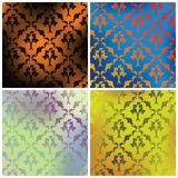 Four textures. Set of four textures ready for your design, vector backgrounds Stock Images