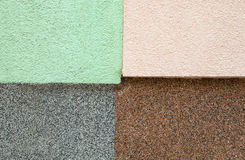 Four textures. Four different textures gathered together on same background wall stock photos