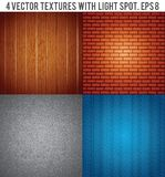 Four Textures with Light Spot. Vector Background Royalty Free Stock Photo