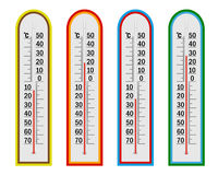 Four thermometer Royalty Free Stock Image