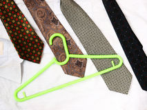Four tie Royalty Free Stock Photo