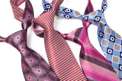 Four tie knotted Royalty Free Stock Photo