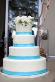 Four tiered wedding cake Royalty Free Stock Photos