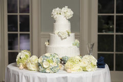 Four tiered wedding cake Stock Images