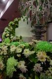 Four tiered white wedding cake Royalty Free Stock Photos