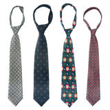 Four ties Stock Photos